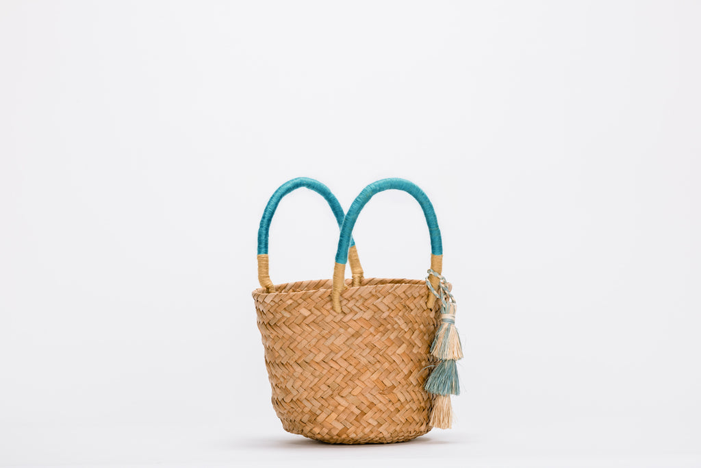 Mini Behati Tassel Straw Tote