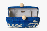 Noreen Embroidered Raffia Clutch Bag