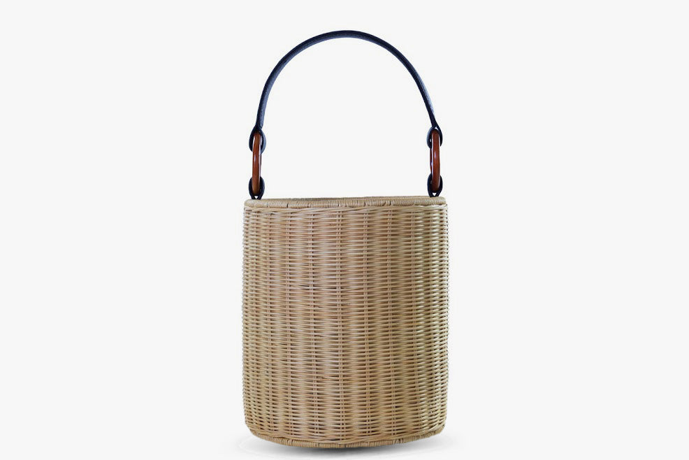 Reta Wicker Bucket Bag