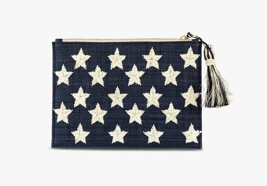 Star Straw Clutch Bag
