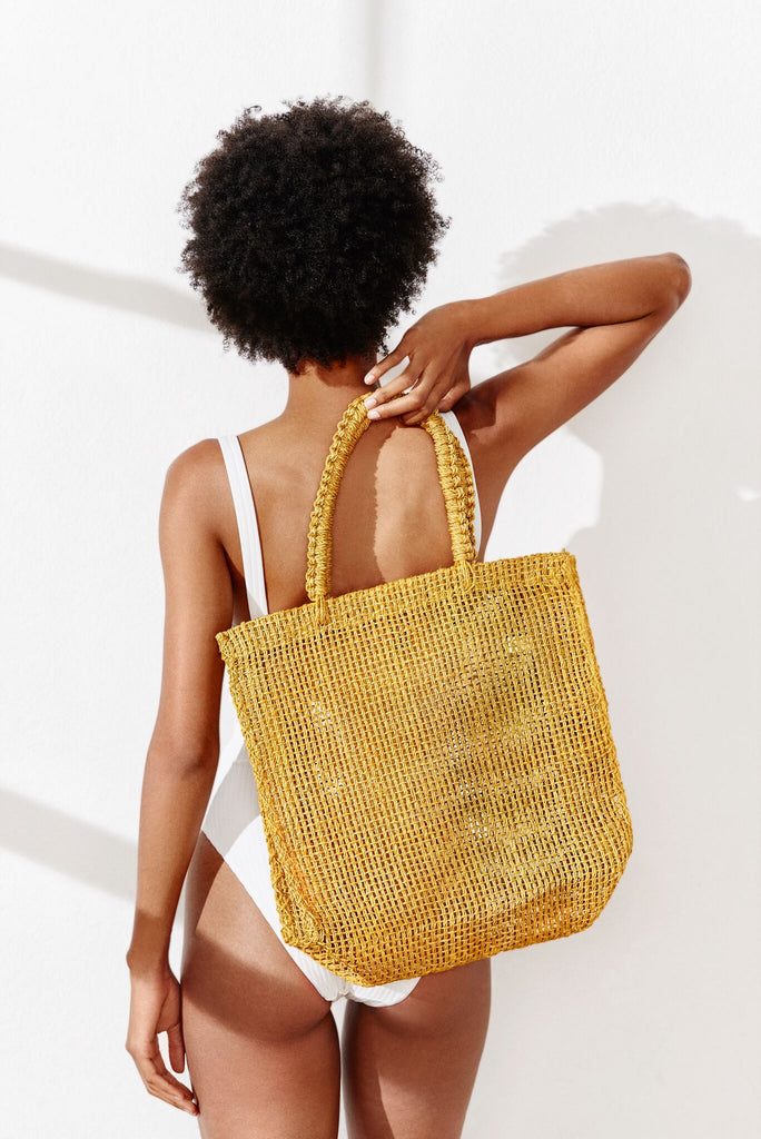 Kayu Brodi Straw Bag Marigold Model