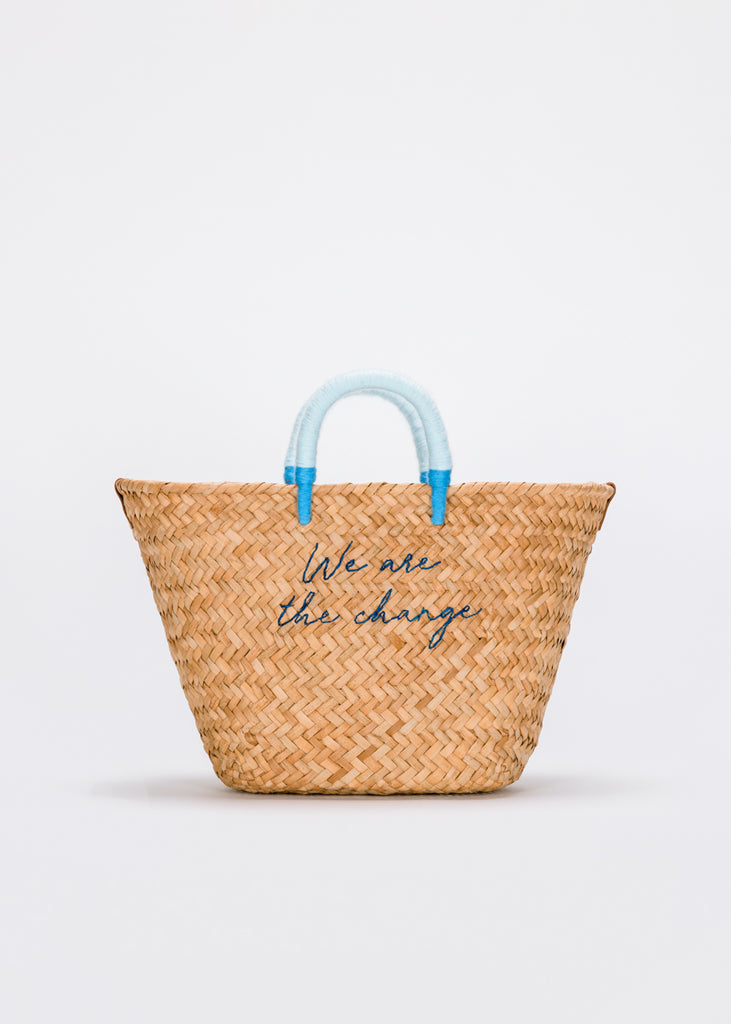 We Are The Change Straw Tote