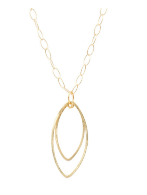 Gold Marquise Necklace
