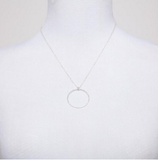 Silver Infinity Circle Necklace