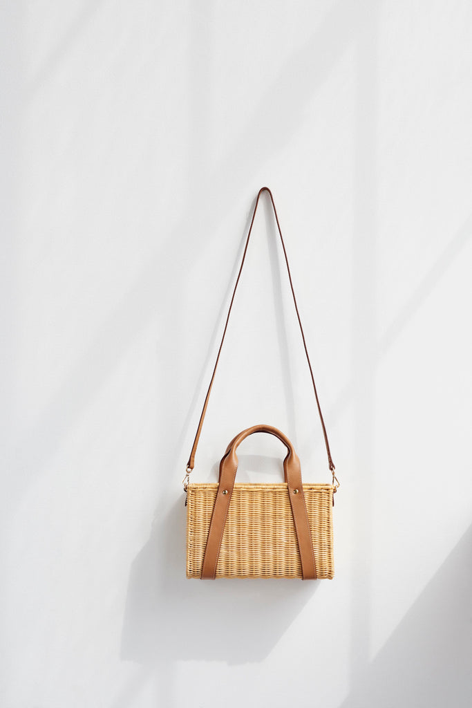 KAYU Straw Tote Bag Daisy Natural Lifestyle
