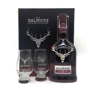Dalmore 12YO 700ml + 2 FREE Whisky Glasses