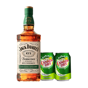 Jack Daniel's Tennessee Rye Whiskey 700ml + FREE 2 Canada Dry Ginger Ale