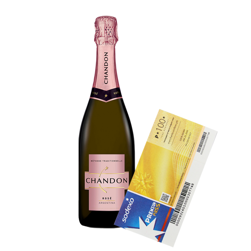 Chandon Rosé NV 750ml with Sodexo Premium Pass Gift Certificate