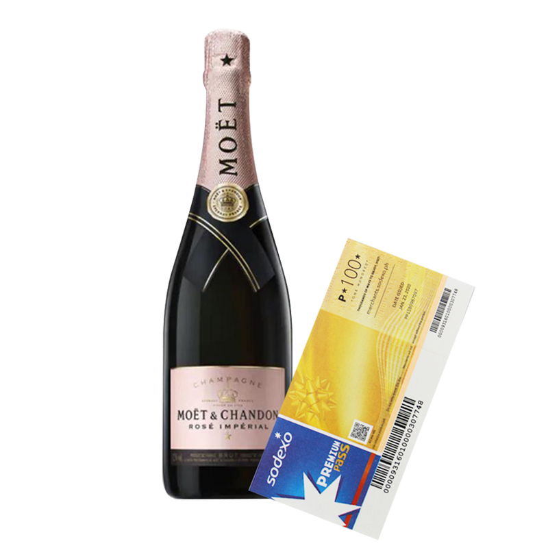 Moét and Chandon Rose Imperial 750ml with Sodexo Premium Pass Gift Certificate