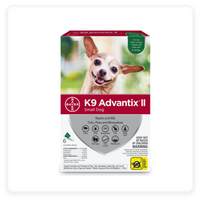 K9 Advantix II Flea, Tick & Mosquito Prevention for Small Dogs up to 4-10 lbs