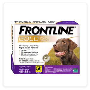 Frontline Gold Flea & Tick Treatment for Large Dogs, 45-88 lbs