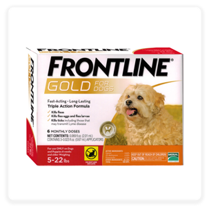 Frontline Gold Flea & Tick Treatment for Small Dogs, 5-22 lbs