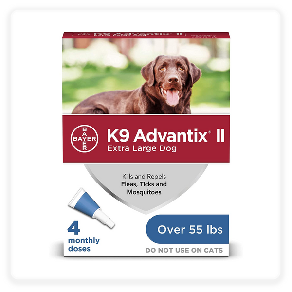 K9 Advantix II Flea, Tick & Mosquito Prevention for Extra Large Dogs Over 55-lbs