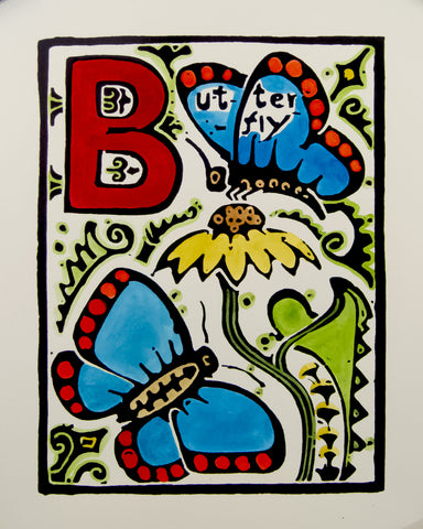 An Alphabet - B is for Butterfly