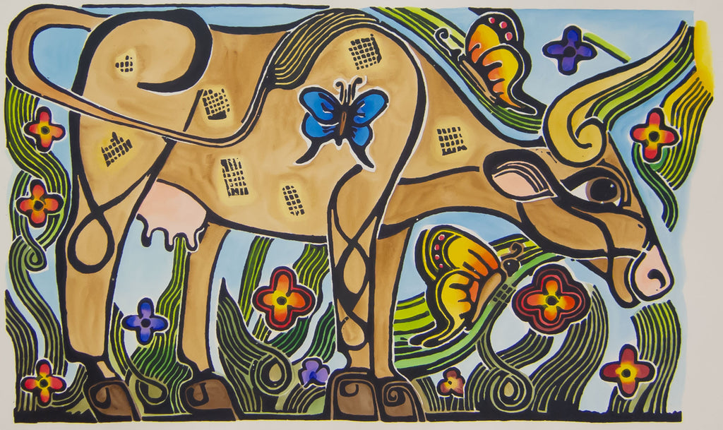 Cow - painted by Carol Hutcherson