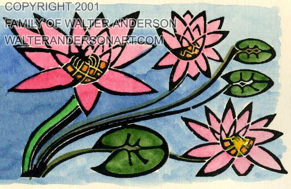 Waterlilies, partial