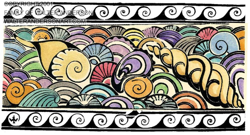 Seashells with Border