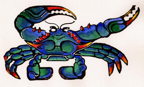 Blue Crab without Water