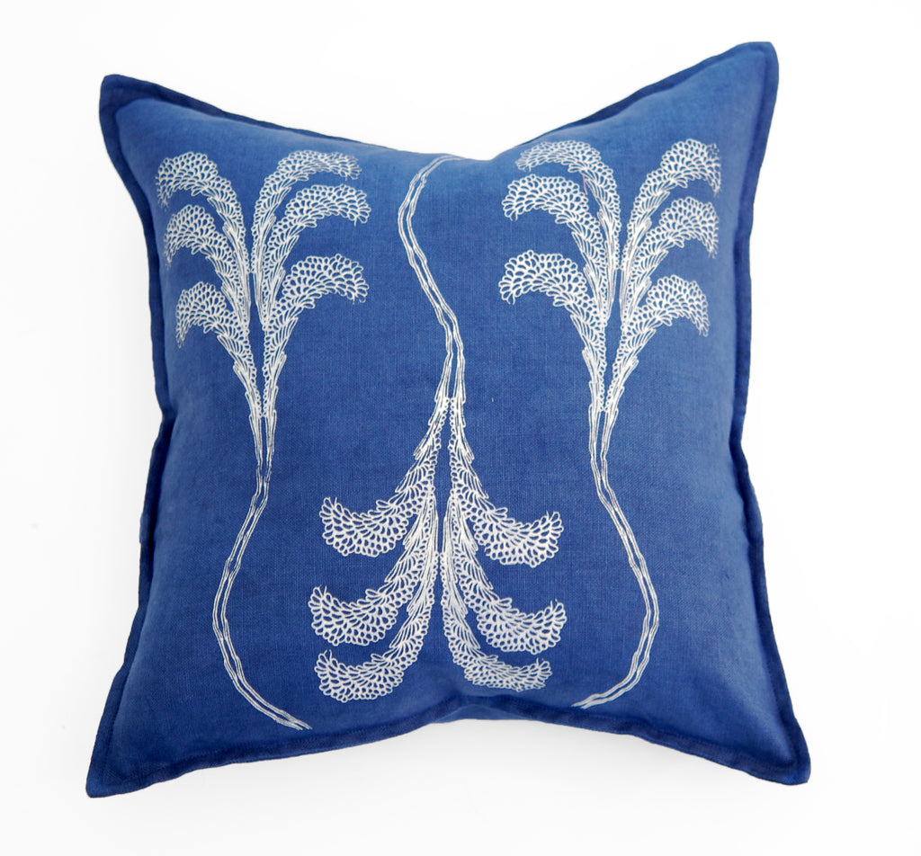Banana Tree Linen Pillow