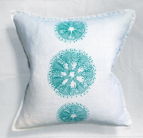 Sand Dollar Linen Pillow