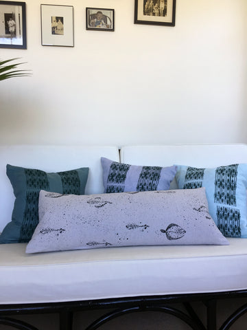 Flounder Bed Canvas Lumbar Pillow