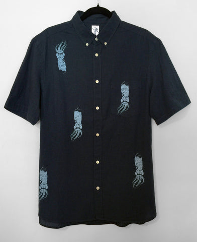 Baby Squid Printed Button Down