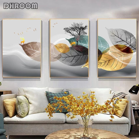 Stunning Living Room Decorative Painting