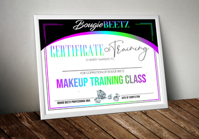 Certificate(Design Only) - MimisDesignzCompany