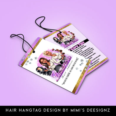 Hair Bundle Wrap/Hangtag(Design Only) - MimisDesignzCompany