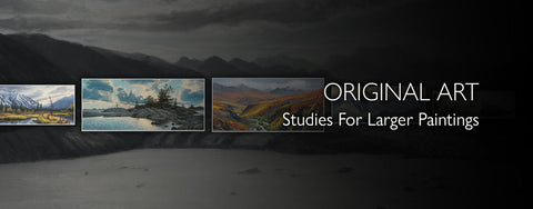 Original Art: Large Paintings From Studies