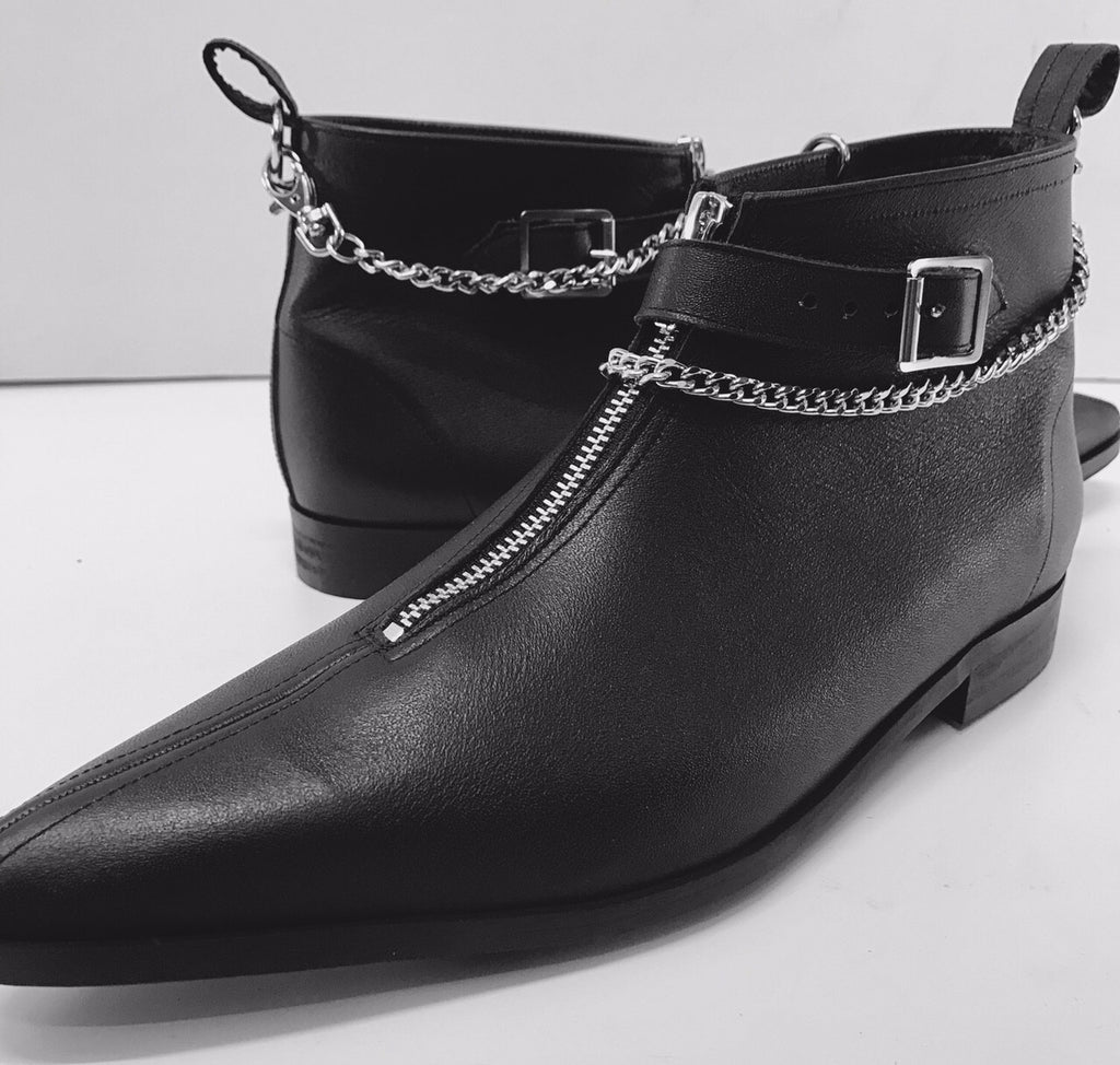 1 Buckle Winklepicker boots with Chain