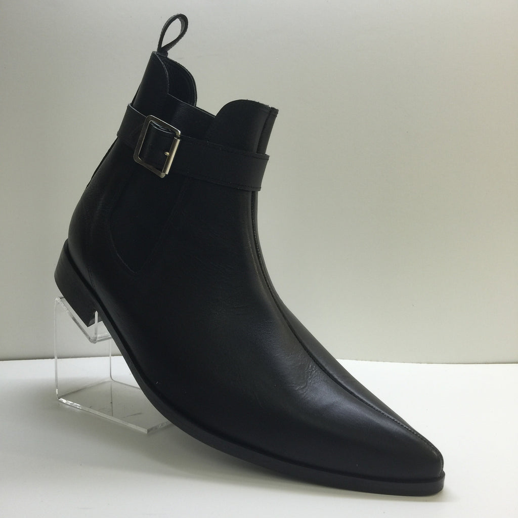 Chelsea Winklepicker Boots With Buckle
