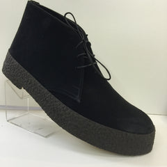 Chukka Playboy Boots in Black Suede
