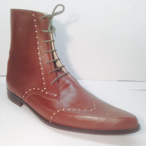 Brogue Winklepicker Boots