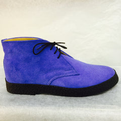 Chukka Playboy Boots in Blue Suede