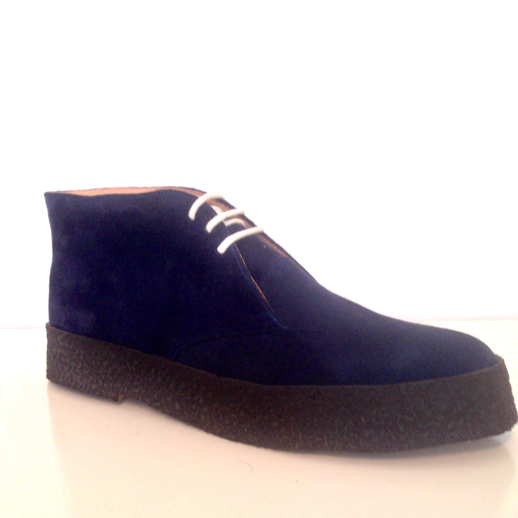 Chukka Playboy Boots in Navy Suede