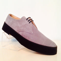 Chukka Playboy Shoes in Grey Suede