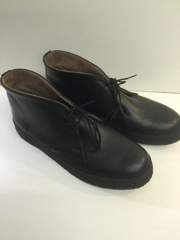 Chukka Playboy Boots in Black Leather