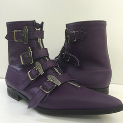 Dawn Coffin Buckle Winklepicker Boots