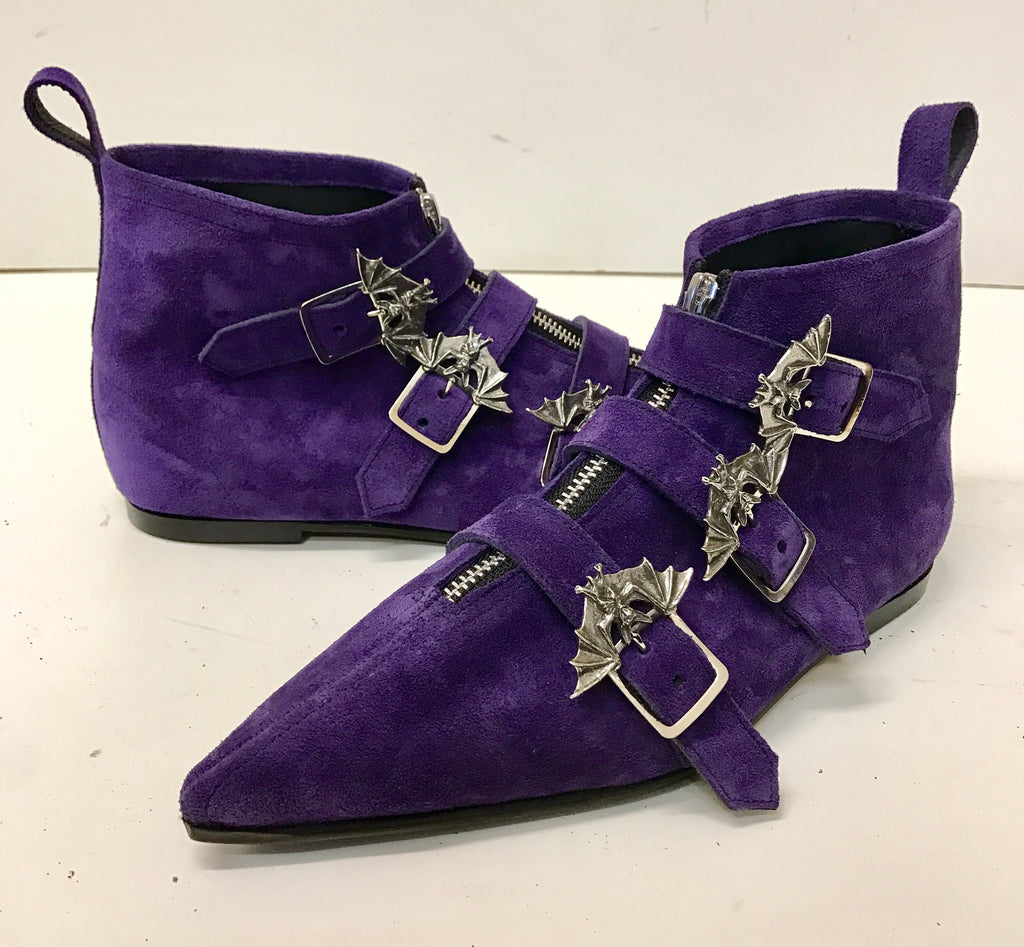 Original Pikes - Dark Crow Bat in Purple Suede