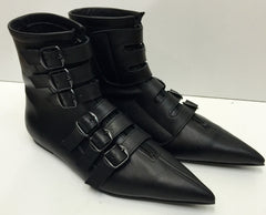 Original Pikes-6 black buckle boots