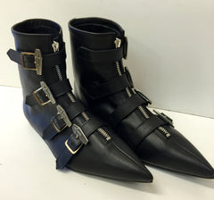 Original Pikes- Coffin Buckle Boots