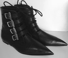 Original Pikes-Coffin buckle boots/Laces