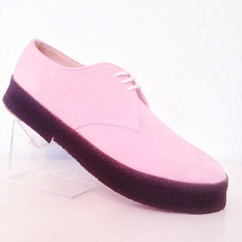 Chukka Playboy Shoes in Pink Suede