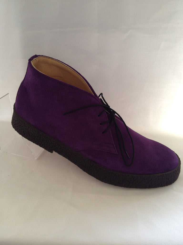 Chukka Playboy Boots in Purple Suede