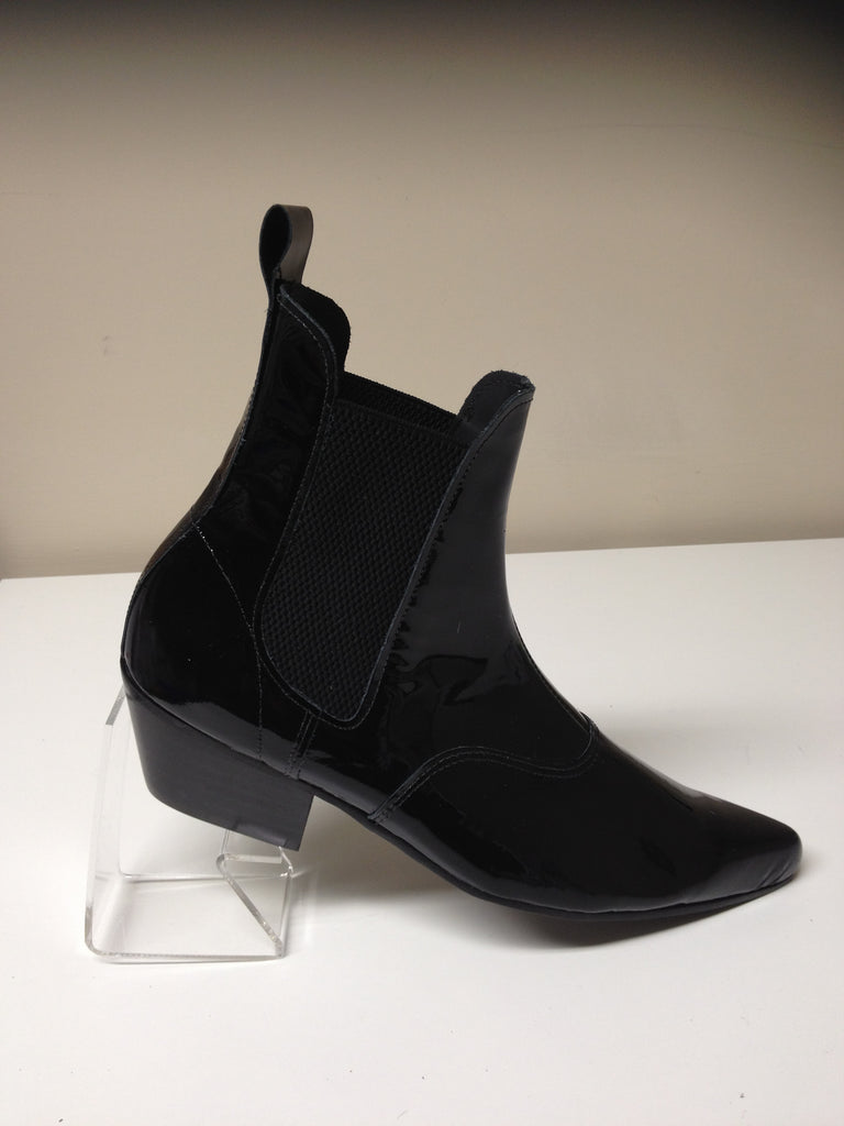 Beat Boots in Black Patent