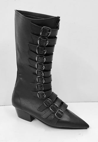 Original Pike Cuban Heel 12 Black Buckle Boots