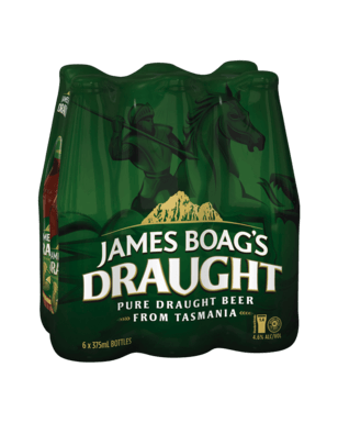 JAMES BOAGS DRAUGHT 4.6% 375ml STUBBY