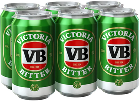 Victoria Bitter Can 375ml 4.9%