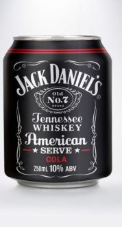 Jack Daniel's & Cola American Serve 250ml 10%